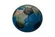 Mapa mundi en un balón