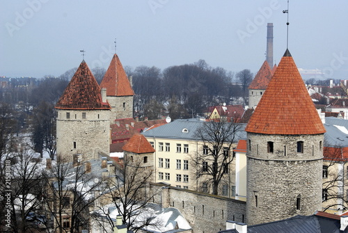 towers and walls of old city