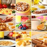 Fototapety Breakfast collage
