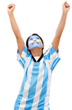 Happy Argentinean football fan