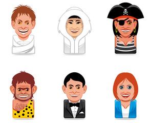 Cartoon people icons