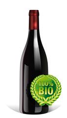Bouteille de vin BIO