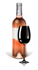 Bottle of Pink Wine/Bordeaux - Blind test