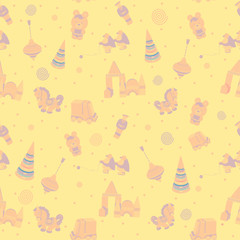seamless wallpaper vintage vector yellow for children