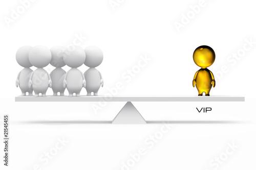 3D illustration of a VIP