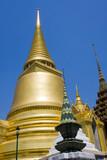 Golden Stupas and Chedis at  Grand Palace, Bangkok, Thailand poster