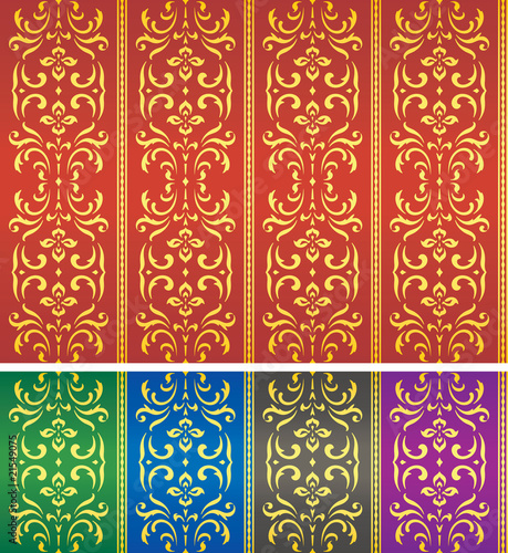 Damask textile or wallpaper pattern