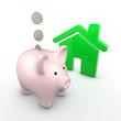 Sparschwein mit Haus