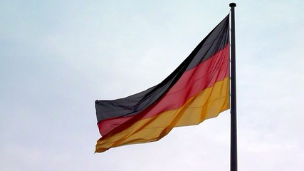 Deutsche Flagge im Wind - Video