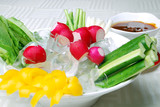 china delicious food--vegetable receive favors sweet sauce poster