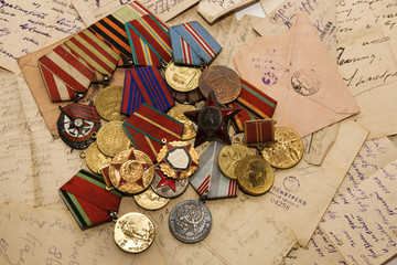 medals and letters