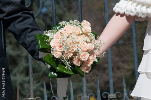 bouquet in mano