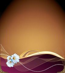 fondo floral en vector