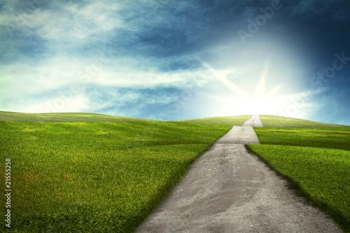 Weg über Hügel