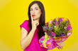 surprise with flowers