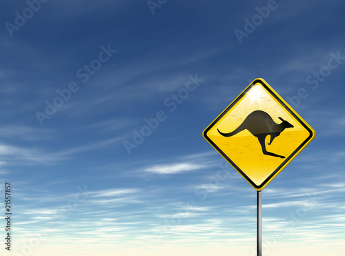 Australie - Road sign