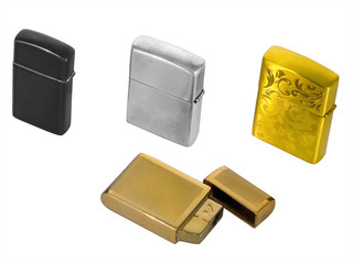 Four cigarette lighters