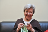 Senior Woman Knitting 1