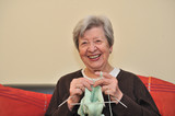 Senior Woman Knitting 4