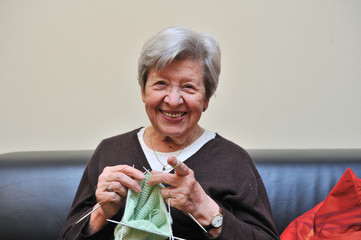 Senior Woman Knitting 2
