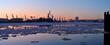 Leinwanddruck Bild - Eisgang auf der Elbe