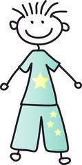 Junge im Schlafanzug