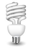 Energy efficient spiral light bulb poster