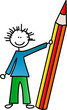 Junge mit Bleistift