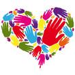 Corazón de manos