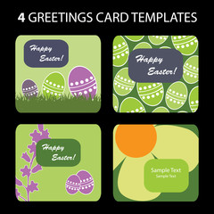 4 Easter Greeting Cards