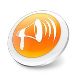 Orange 3d announcement icon
