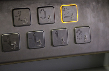 2nd Floor - Elevator keypad