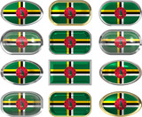 twelve buttons of the Flag of Dominica