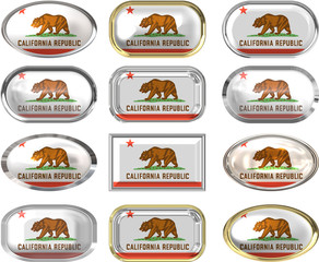 twelve buttons of the Flag of California