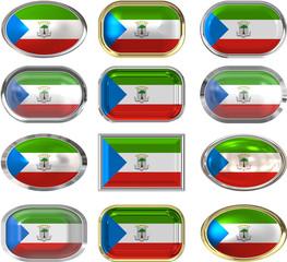 twelve buttons of the Flag of Equatorial Guinea