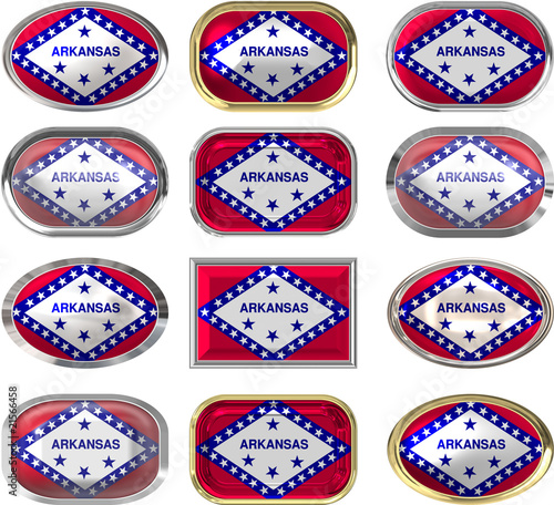 twelve buttons of the Flag of Arkansas