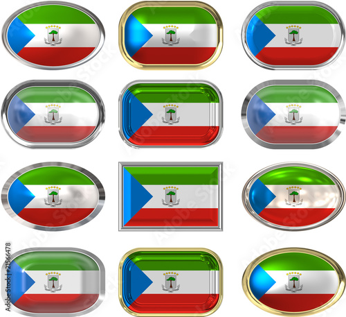 twelve buttons of the Flag of Equatorial Guinea