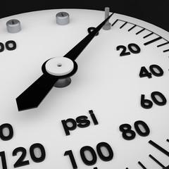 Rendered 3d partial pressure gauge
