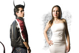 rivalry between angels and demons poster
