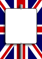 UK Flag Sign Post
