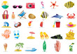 Collection of summer icons, vector illustration