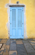 Blue door in Trapani, Italy