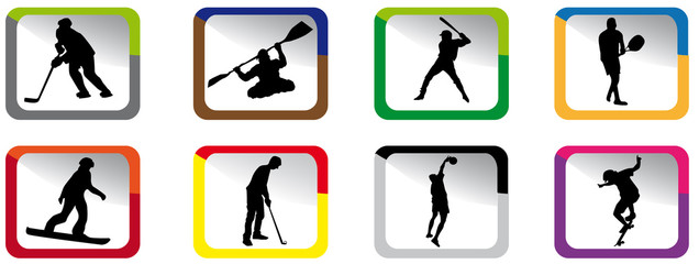 Color sport icons