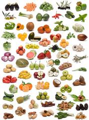 Frutas, verduras y especias.