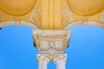 The detail of Gloriette in Schonbrunn
