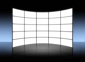 white TV panel