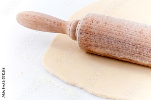 Papiers peints Boulangerie Pâte étalée au rouleau