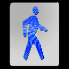 Fußgänger blau
