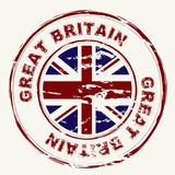 great britain grunge ink stamp poster