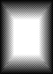 halftone picture frame border